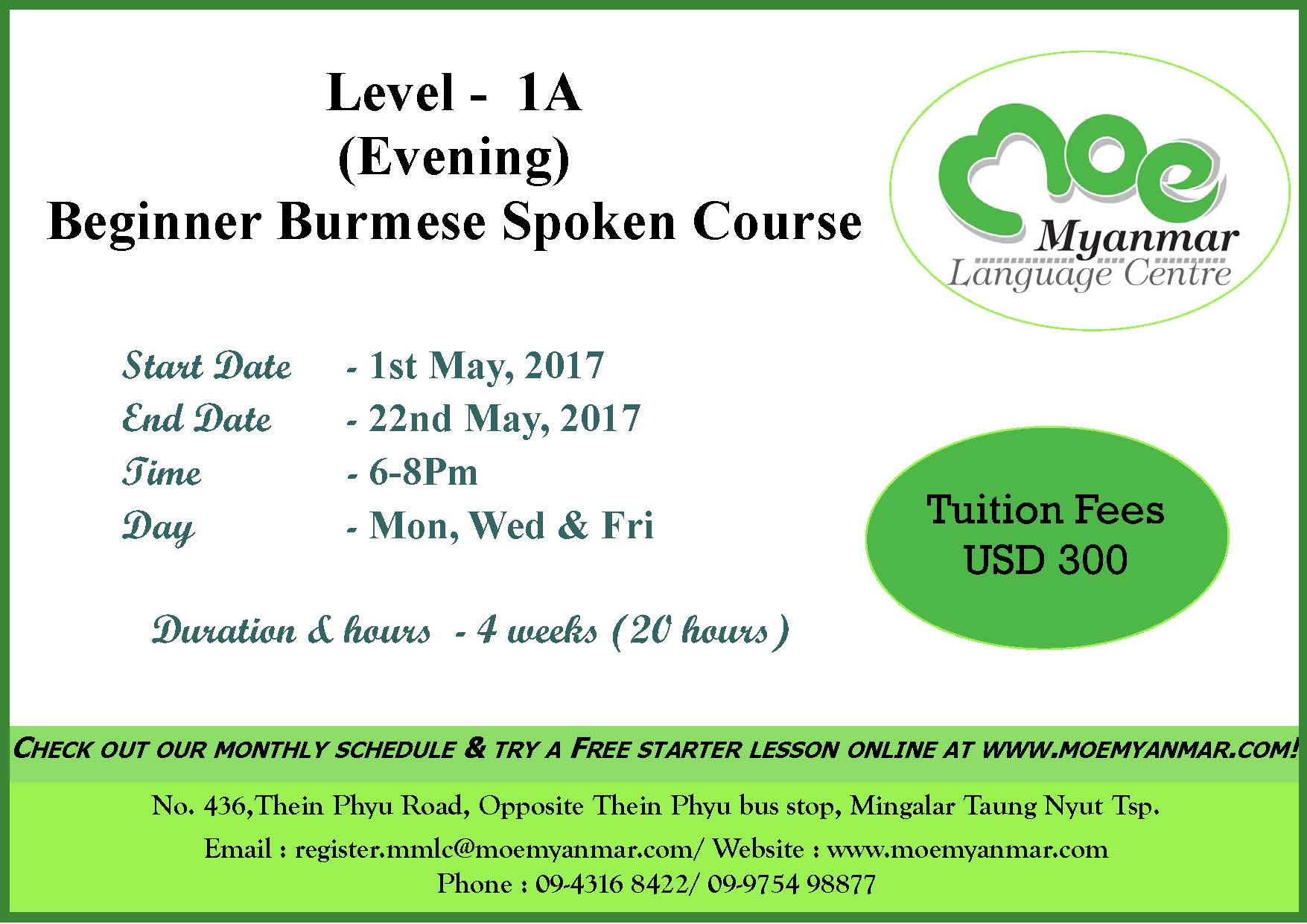 Level-1A evening regular(May)